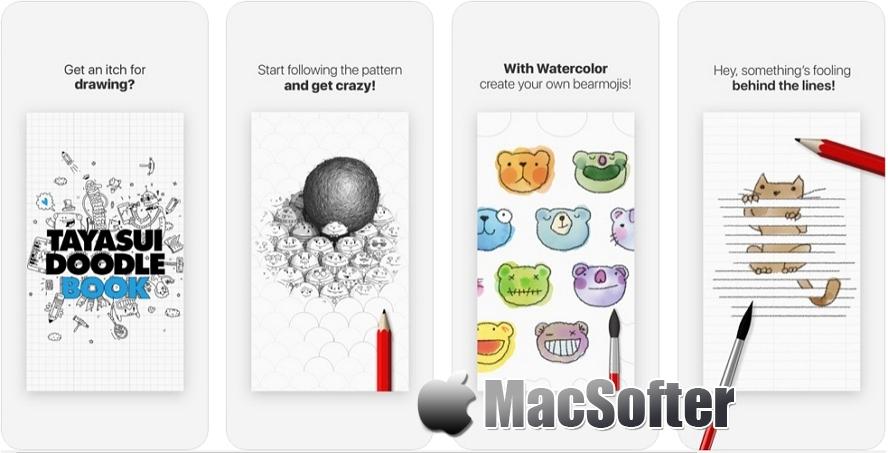 [iPhone/iPad限免] Tayasui Doodle Book : 随时涂鸦放飞想像力的绘图软件