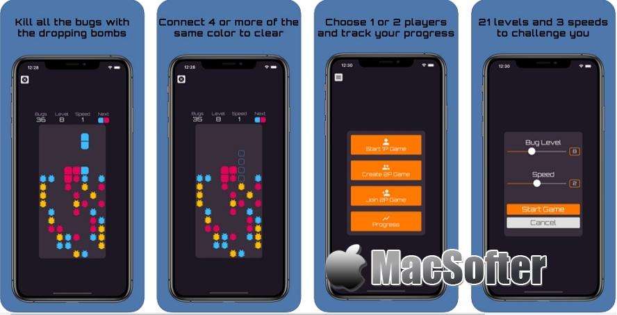 [iPhone/iPad限免] Bug Bomber 虫虫轰炸机 : 动作益智游戏