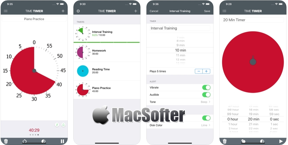 [iPhone限免] Time Timer : 视觉化计时器软件