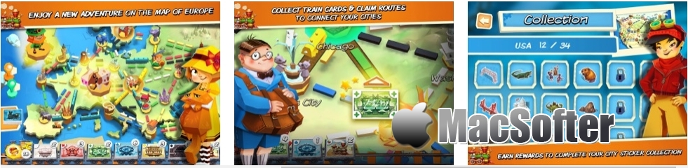 [iPhone/iPad限免] Ticket to Ride: First Journey - 好玩的棋盘游戏