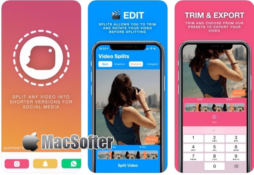 [iPhone限免] Splits for insta & snap : 将视频剪切为Instagram、Snapchat支持的视频长度