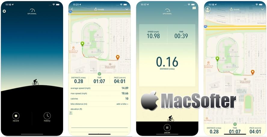 [iPhone限免] Vima :自行车行程记录软件