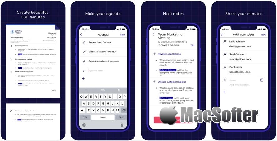 [iPhone限免] Neet Meeting Minutes : 会议记录创建及任务清单创建工具