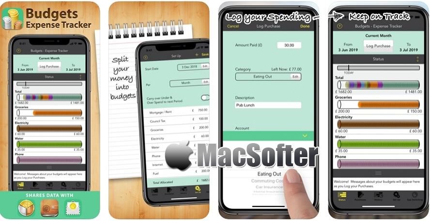[iPhone限免] Budgets Pro :个人财务记账及财务预算工具