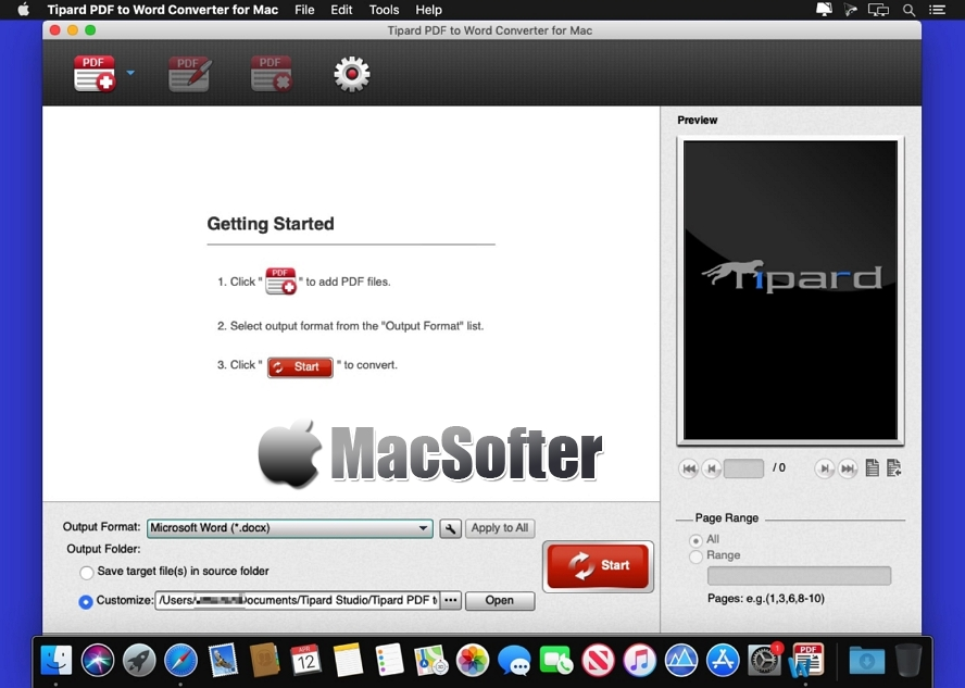 [Mac] Tipard PDF to Word Converter : PDF转word格式转换工具