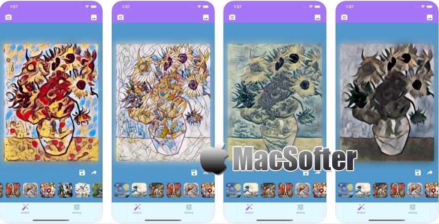 [iPhone/iPad限免] Artech : 将图片与视频转换成艺术特效的工具