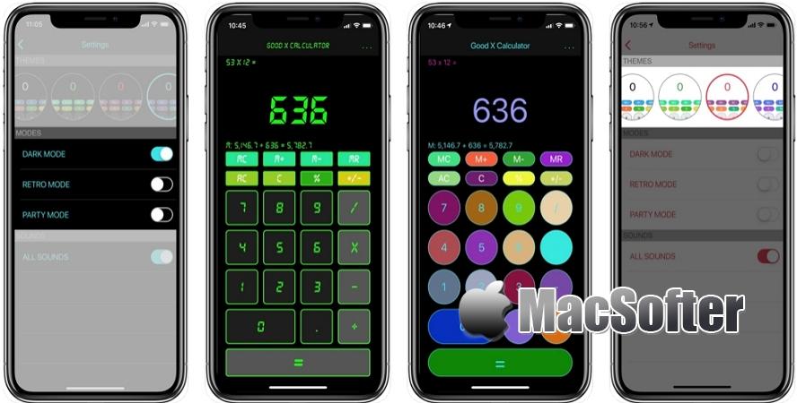 [iPhone/iPad限免] Good X Calculator :自带多种外观模板的计算器软件