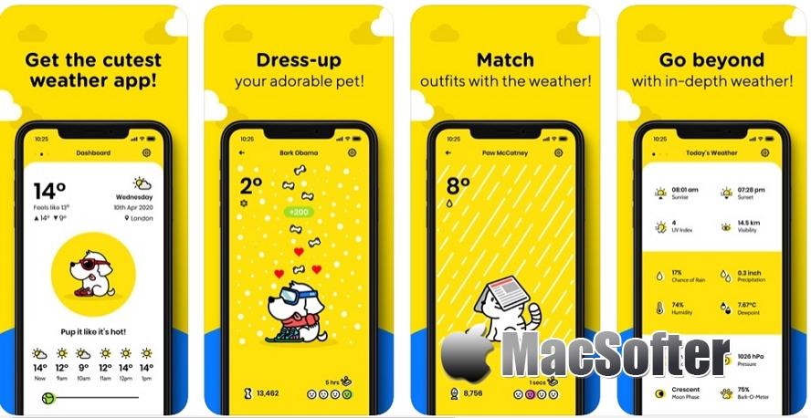[iPhone限免] Cats & Dogs Weather : 超萌猫宠狗宠养成系天气预报软件