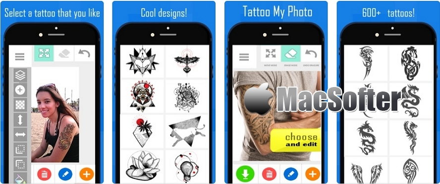 [iPhone/iPad限免] Tattoo my Photo 2.0 : 照片虚拟纹身特效处理工具