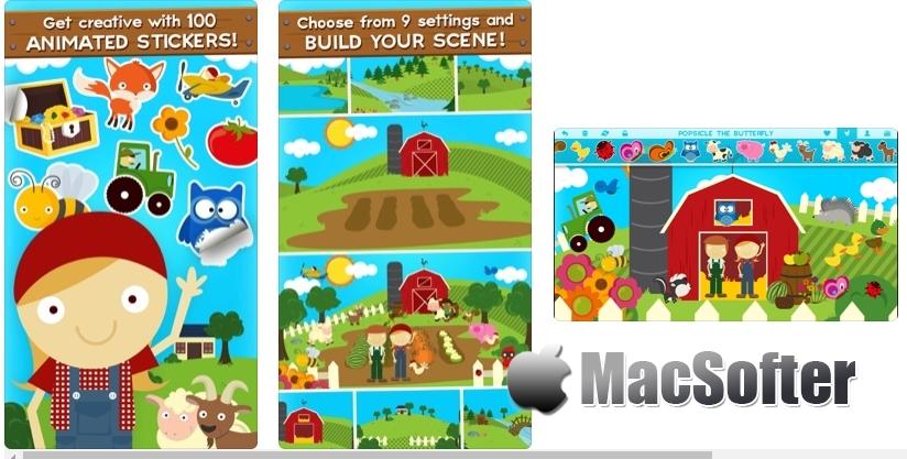 [iPhone/iPad限免] 莉莉的农场动物贴纸保费 :卡通风格农场动物贴纸软件