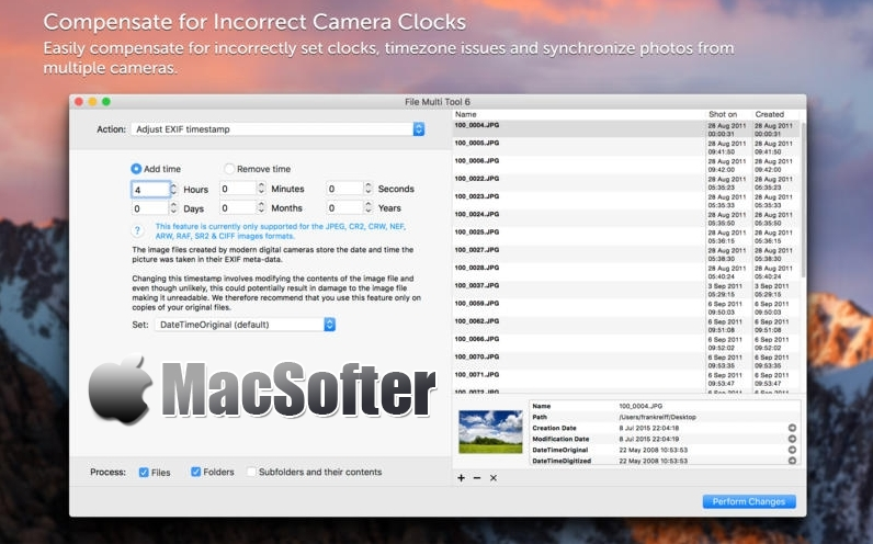 [Mac] File Multi Tool : 图片信息批量编辑工具
