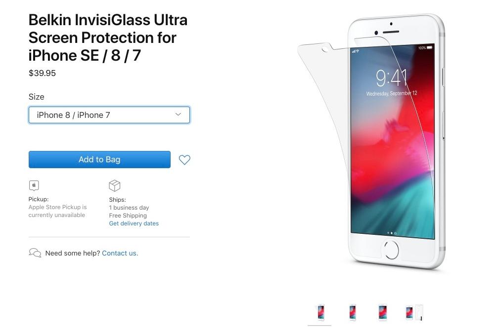注意:iPhone SE2屏幕保护膜与iPhone 8无法共用