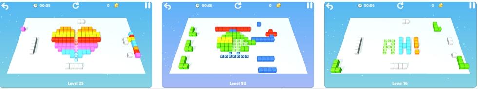 [iPhone/iPad限免] Cubes : brain teaser - 立方体着色画艺术游戏