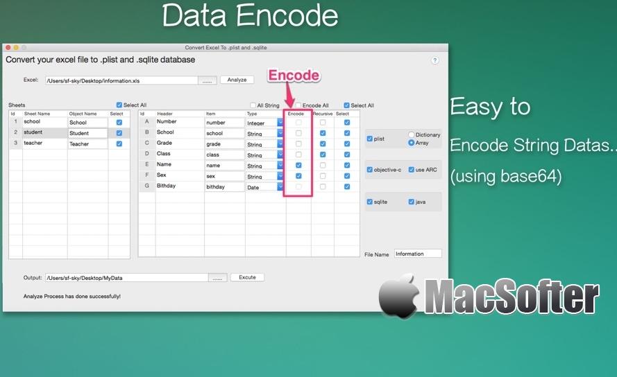[Mac] DataConvertor for Excel : excel格式转换器