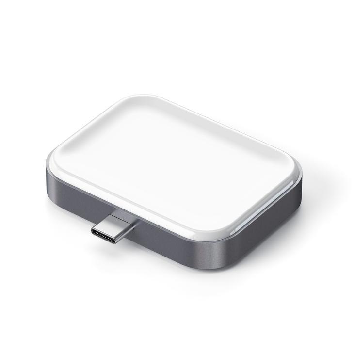 Satechi推出用MacBook或iPad Pro帮AirPods无线充电的USB-C无线充电基座