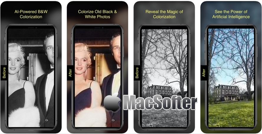 [iPhone限免] Pholorize :为旧的黑白照片着色的工具