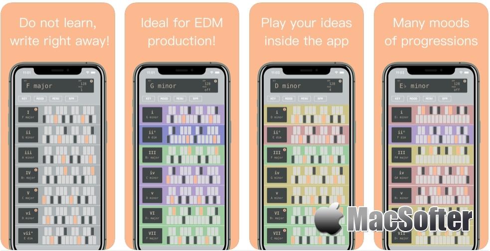 [iPhone限免] Chord Progression :实用的音乐创作软件
