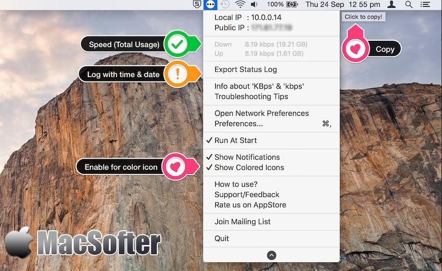 [Mac] Internet Status : 菜单栏的网络状态监测工具