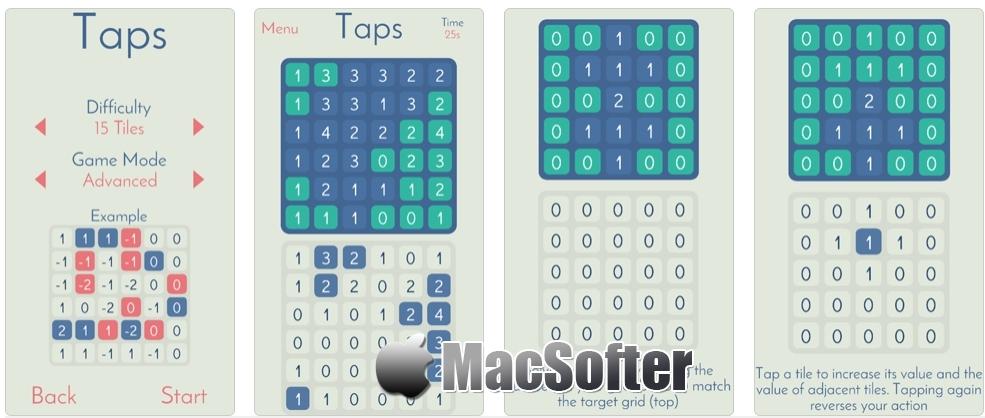 [iPhone/iPad限免] Taps :耐玩的数学解谜游戏