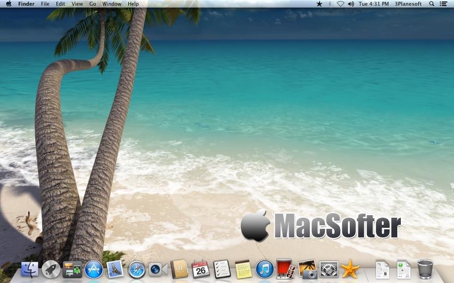 [Mac] Sandy Beach 3D : 阳光沙滩主题的动态桌面工具