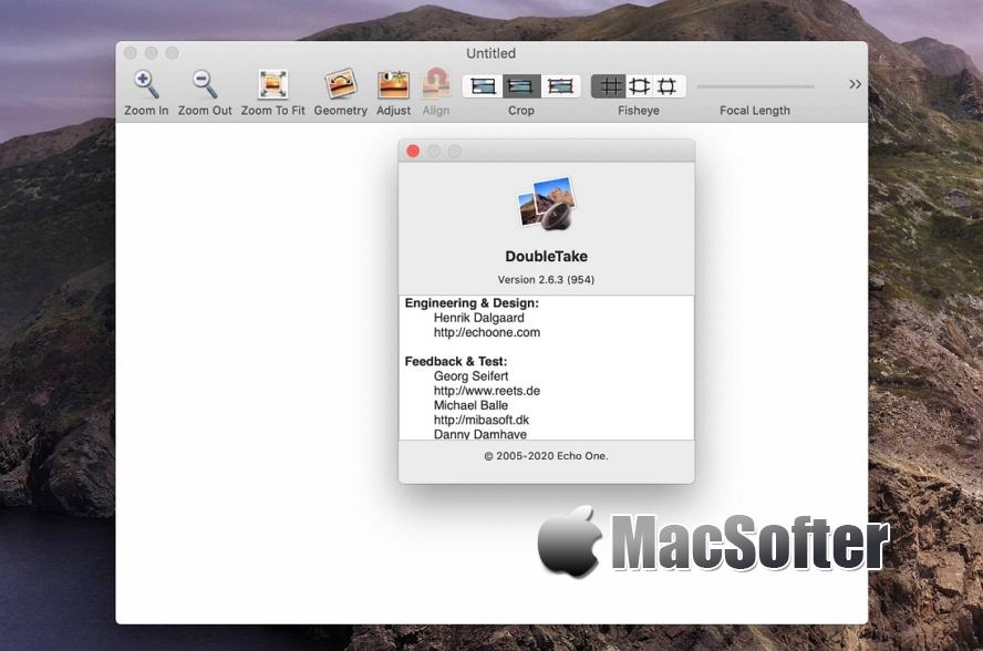 [Mac] DoubleTake : 全景照片拼接软件