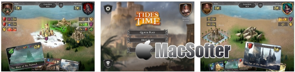[iPhone/iPad限免] Tides of Time: The Board Game - 双人对战桌游卡牌游戏