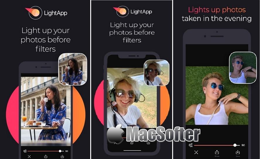 [iPhone限免] LightApp :自拍照AI修图美化工具