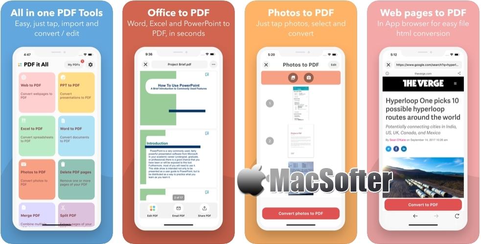 [iPhone/iPad限免] PDF it All Document Converter :支持各种文档转PDF格式转换器