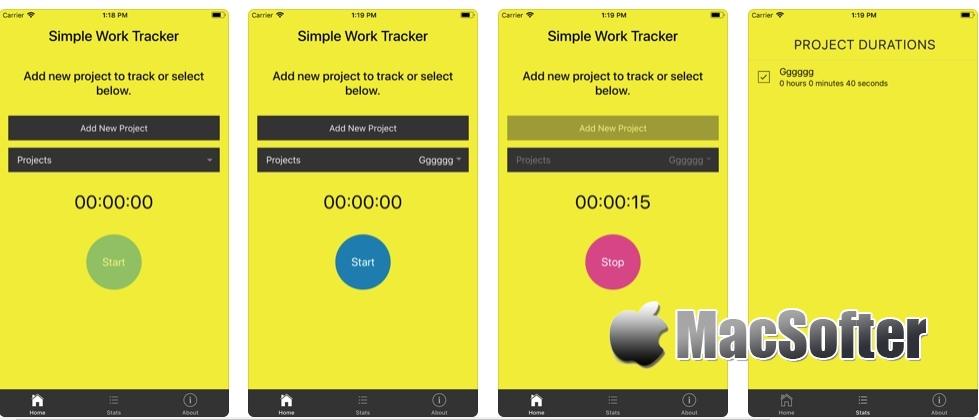 [iPhone/iPad限免] Simple Work Tracker : 项目时间跟踪软件