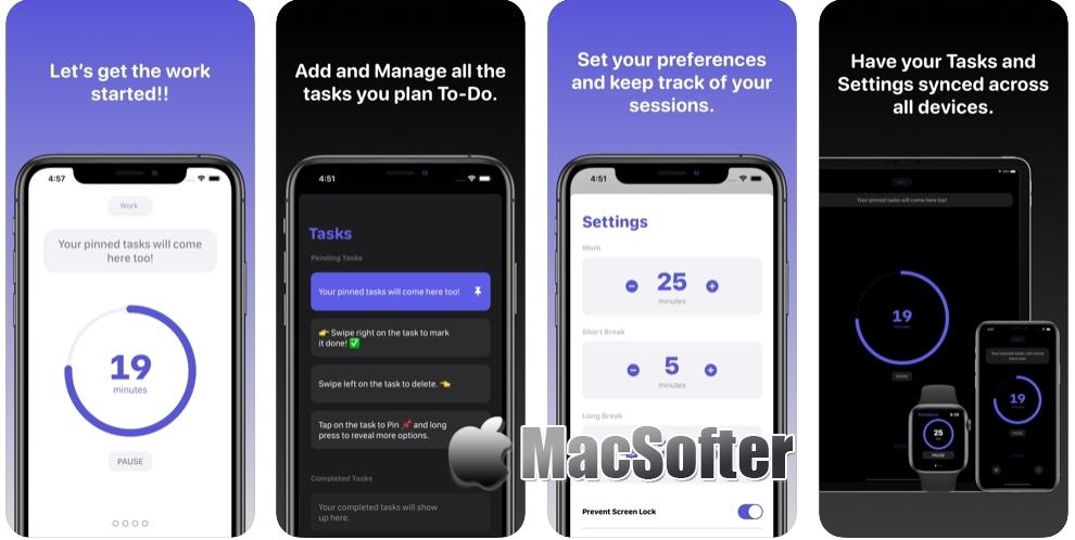 [iPhone/iPad限免] Pomodoro Focus Timer :结合番茄时钟的待办事项清单软件