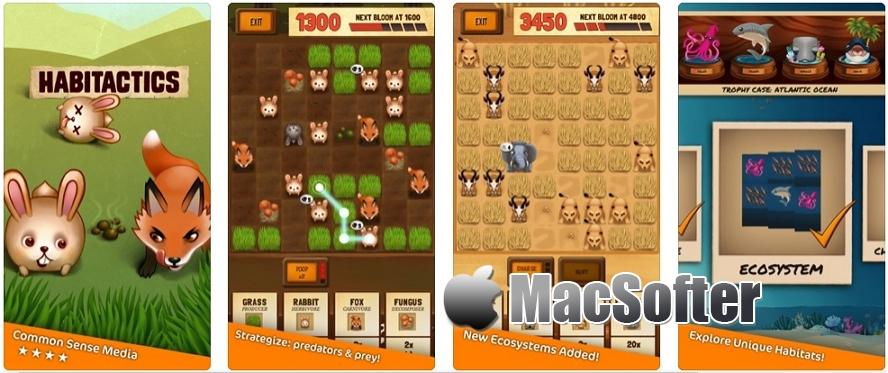 [iPhone/iPad限免] Habitactics - premium :野生动物主题的三消游戏