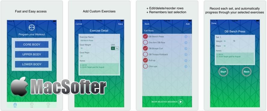 [iPhone限免] WorkoutTracker :个人健身计划软件