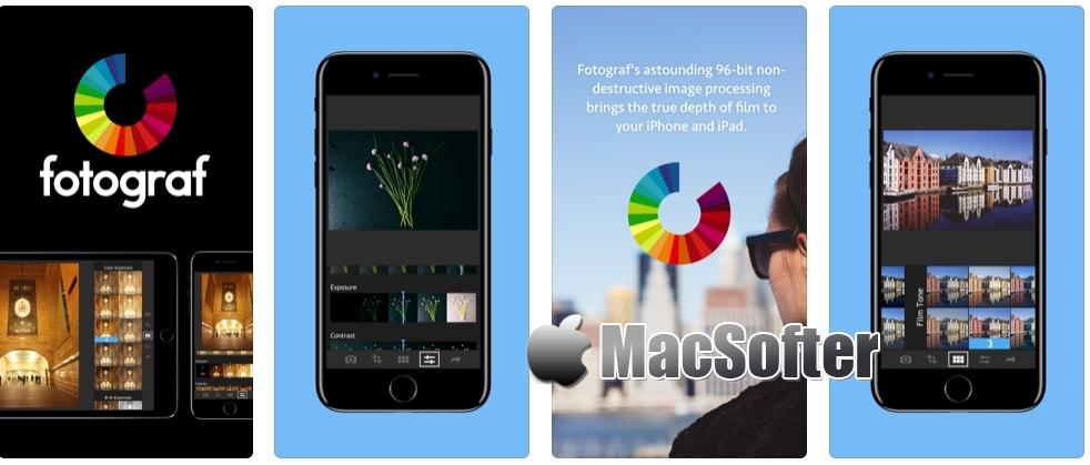 [iPhone/iPad限免] Fotograf : 照片滤镜特效后期处理软件