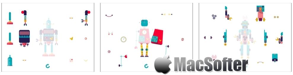 [iPad限免] 机器人组装益智游戏 :儿童益智机器人组装游戏