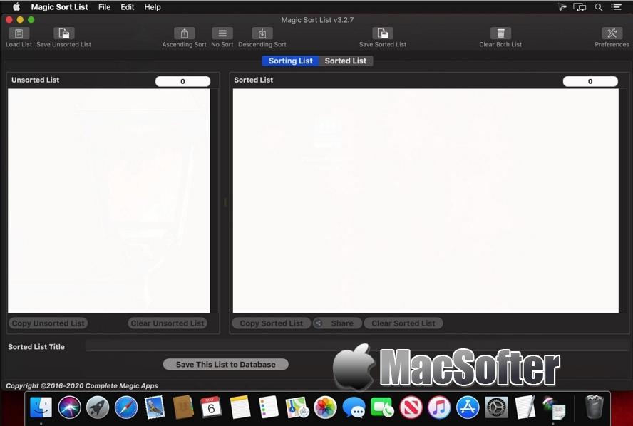 [Mac] Magic Sort List : 文本排序工具