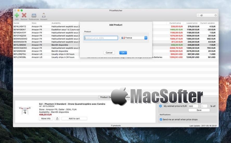 [Mac] PriceWatcher : 网购商品价格变动监控软件