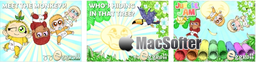 [iPhone/iPad限免] 丛林果酱(Jungle Jam) : 手绘风格儿童音乐互动游戏