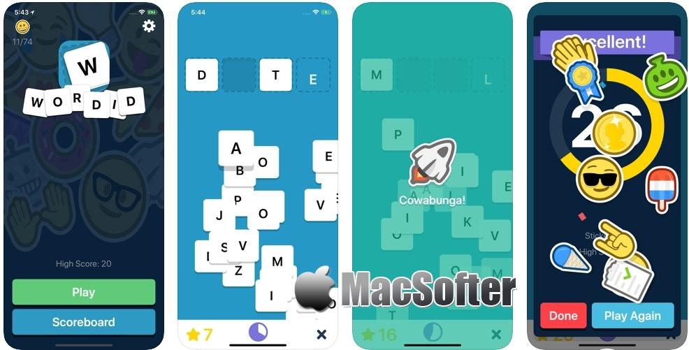 [iPhone/iPad限免] Wordid :四字母英文单词游戏