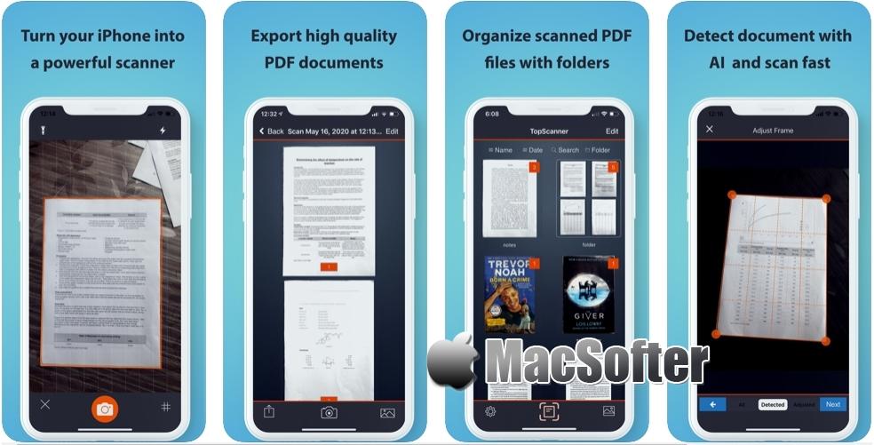 [iPhone/iPad限免] TopScanner : PDF文件扫描工具