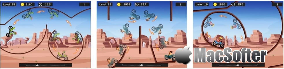 [iPhone/iPad限免] 极限飞车 :摩托特技竞速游戏 iOS限免 第2张