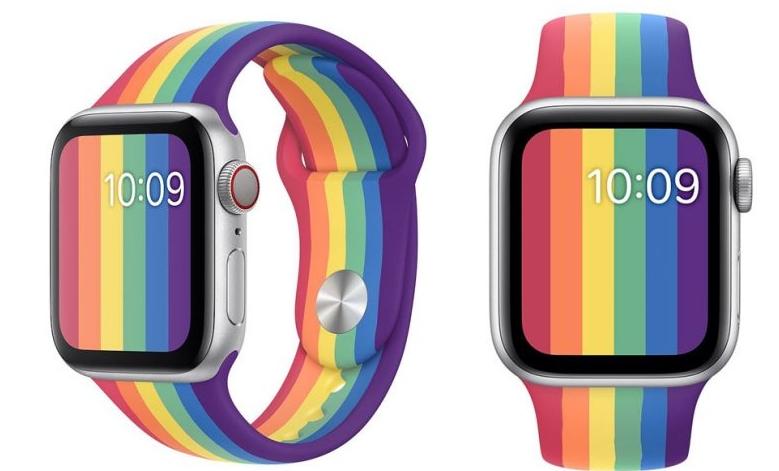 同志骄傲月即将到来:Apple Watch 新增两款彩虹表带