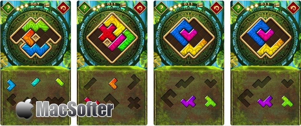 [iPhone/iPad限免] Montezuma Puzzle 4 Premium : 蒙特祖玛益智拼图游戏