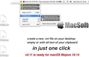 [Mac] nuTXT : 一键创建txt文档的工具