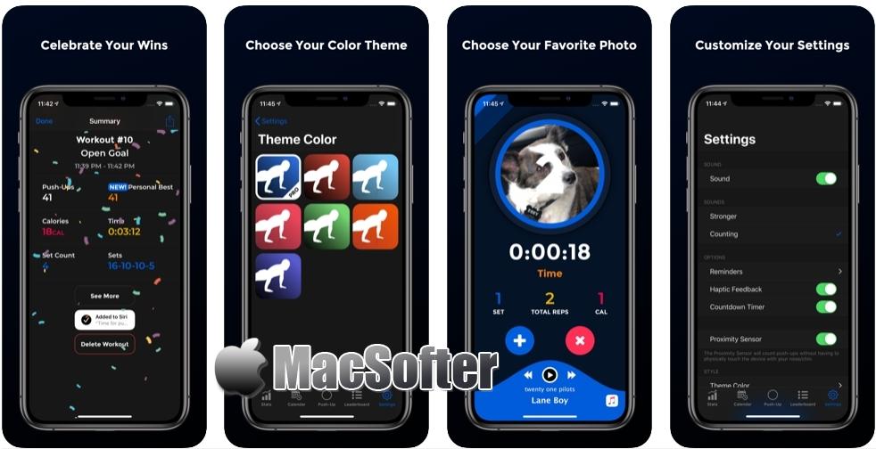 [iPhone/iPad限免] PushFit Pro : 俯卧撑计数器