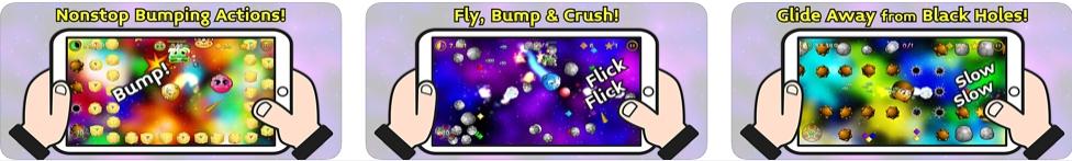 [iPhone/iPad限免] Bumperoid: Golden Meteoroid - 金色流星体碰撞游戏
