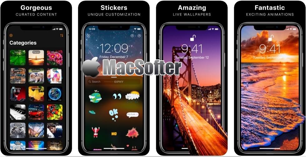 [iPhone限免] Live Wallpapers & Stickers :动态桌面壁纸和动态贴图工具