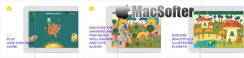 [iPad限免] Mini-U: Peekaboo Universe - 和外星人躲猫猫手绘风格教育游戏