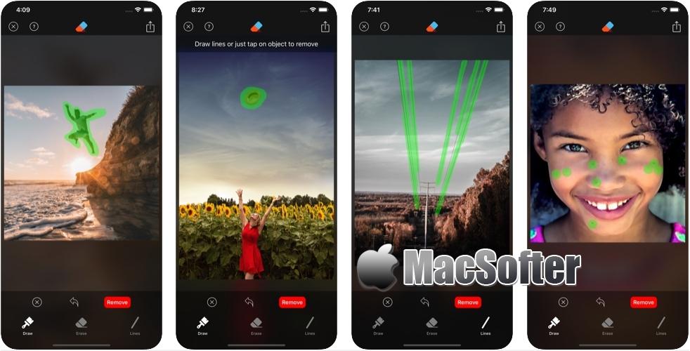 [iPhone限免] Retouch : 智能化的照片对象删除工具