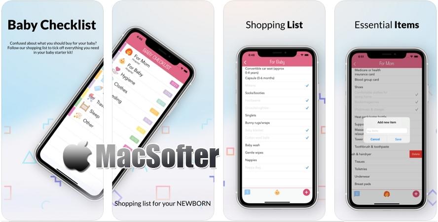 [iPhone/iPad限免] Baby Checklist : 孕妇购物清单软件