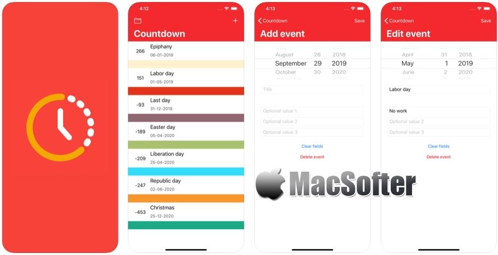 [iPhone/iPad限免] Countdown :日期倒计时器软件